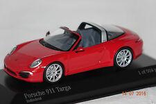 Porsche 911 Targa 2013 rojo 1:43 Minichamps nuevo & OVP 410062440
