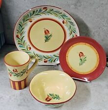 Gail Pittman Siena Garland Dinnerware 4 piece place setting