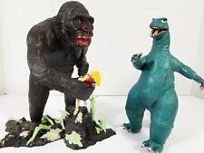 Vintage Aurora Plastic Model King Kong 1964 with Jane in Hand & Godzilla!