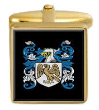 Abercromby Escocia Familia Crest Escudo De Armas Gemelos De Oro Caja Grabado