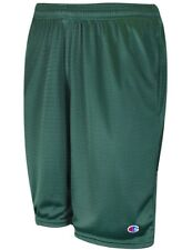NEW Men's Champion Green Long Athletic Mesh Gym Shorts with Pockets