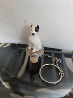 """Pitbull """"Pittie"""" Cork Wine/Liquor Bottle Stopper~Resin Hand Painted Dog Figurine"""