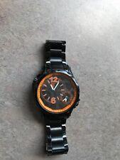 Timepieces by Randy Jackson Men's SPORT WATCH Black Stainless Steel ORANGE