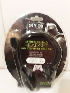Vibe Stereo Gaming Headset With Adjustable Boom Mic Compatible With Xbox 360 New