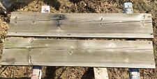 "2 x 12 x 68"" Weathered Barn Wood TWO Reclaimed Wood Board Planks"