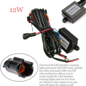 Auto DRL LED Daytime Light Control Module Box Relay Harness Automatic ON/OFF Kit