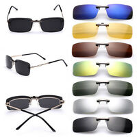 Polarized Clip On Sunglasses Lens Day Night Vision Driving Glasses 100%UV400