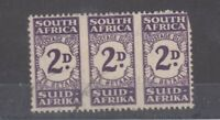South Africa 1943 2d Postage Due Block Of 3 SGD32a VFU JK1667