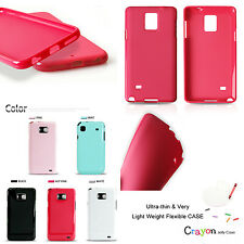Vivid Color Slim Flexible TPU Silicon Gel Socket Fitted Case Cover For Galaxy