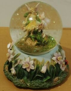 Musical Fairy Snow Globe Beautiful Detailed Unique Flower Pixie Glitter Large