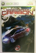 Livret Need For Speed Carbon Xbox 360