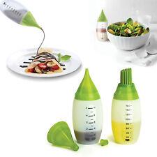 Chef's Multifonction Cuisine Décoration dressing silicone bouteille squeeze kit nouveau