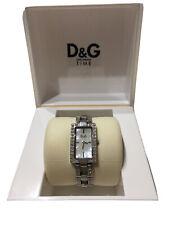 Reloj De Mujer D&g Plata Diamonte