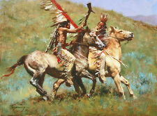 Howard Terpning TRIBAL WARFARE, Native American, giclee canvas #4/175