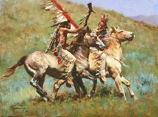 Howard Terpning TRIBAL WARFARE, Native American, giclee canvas #4/175