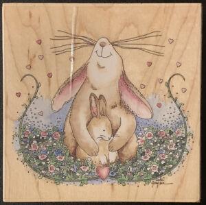 Stamps Happen Proud Mother Rabbit Bunny Rubber Stamp