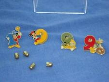 2009 CHARACTER PINS MICKEY Donald MINNIE Pluto BUCKET HAT FAB 4 SET DISNEY 20671