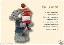 THANK YOU TEACHER - Personalised Poem (Laminated Gift)