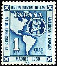 ESPAÑA 1951 1091 U.P.A.E.1v.