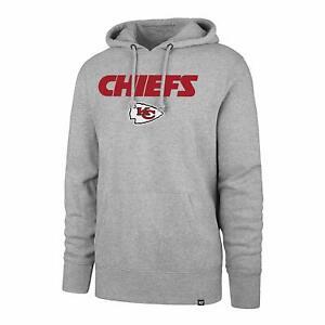 Kansas City Chiefs Men's '47 Brand Headline Pullover Hoody Sweatshirt - Gray