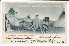 CANADA , ETHNIC , INDIAN BLACKFOOT CAMP , KANADA 1906