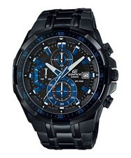 New Casio Edifice EFR-539BK-1A2V Men's Watch Chronograph Stainless Steel Quartz