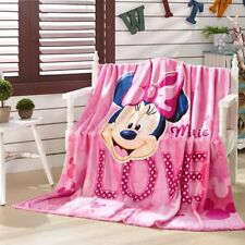 cute minnie love pink coral fleece Blankets Throws quilt blankets nap new