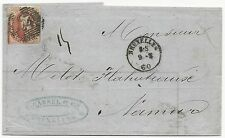 Belgium Scott #8b on Cover Bruxelles March 9, 1860 G. Cassel & Co