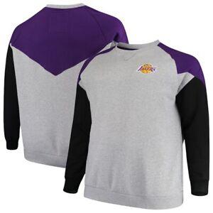 Mitchell & Ness Los Angeles Lakers Grey/Purple Hardwood Classics Sweatshirt 4XLT
