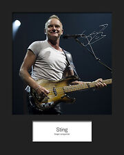 STING #2 10x8 SIGNED Mounted Photo Print - FREE DELIVERY