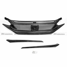 New Front Bumper Grill For Honda 10th Generation Civic FC CM-Style Carbon Fiber