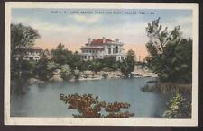 Postcard DALLAS Texas/TX  A.T. Lloyd Family Mansion Estate view 1930's