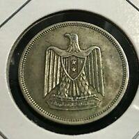 1960 EGYPT SILVER 10 PIASTRES NICE COIN