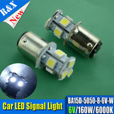 1pcs 6 VOLT 5050 SMD BA15D GLOBES STOP TAIL SIDE INDICATOR LED BULBS SIGNAL BEAM