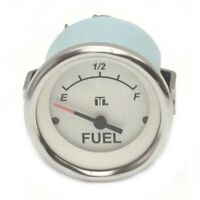 Teleflex Lido Series Boat Fuel Gauge 67522F | 2 Inch White Silver