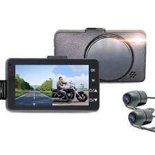 3'' 140°Motorcycle Car Bike Dual Action Camera Video DVR Camcorder WaterproUOS
