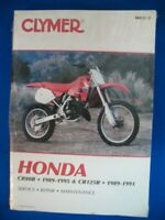 1989 1990 1991 1992 1993 1994 1995 Clymer Honda CR80R CR125R NEW Service Manual