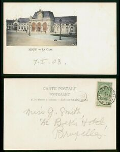 Mayfairstamps Belgium 1926 Mons La Gare Postcard wwo_63991