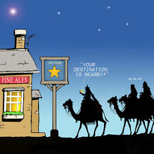 Merry Christmas Card with Three Wise Men -Funny Christmas Card -Xmas Card -Trick
