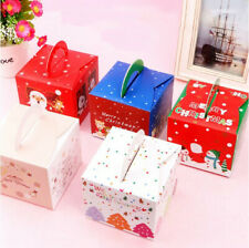 10/20Pcs Xmas Christmas Gift Box Favour Present Wrapping Bag Candy Boxes Party