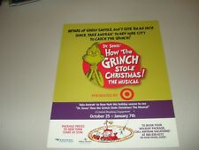 Amtrak 2007 cardboard advertisement Dr. Seuss' HOW THE GRINCH STOLE CHRISTMAS -