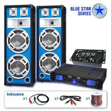 "BLUE STAR SET DI CASSE ""BASSKERN USB"" AMPLIFICATORE EQUALIZZATORE 2800W MIXER"