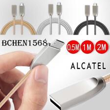 Per Alcatel Telefoni-Nylon intrecciato Micro USB Ricarica Cavo Caricabatteria Per Sincronizzazione Dati