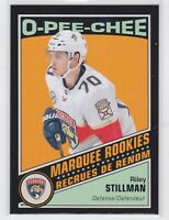 19/20 OPC...RILEY STILLMAN...BLACK,,,MARQUEE ROOKIE,,,087/100,..# 548...PANTHERS