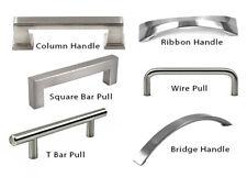 Modern Handle Square Bar Pull Kitchen/Bathroom Cabinet Cupboard Brushed Hardware