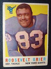 1959 Topps #29 ROOSEVELT ROSEY GRIER NEW YORK GIANTS EX Football Card Penn St !