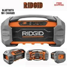 RIDGID 18 Volt Rugged Bluetooth Worksite JobSite AM_FM Radio Battery USB Charger