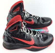 Men's Nike Zoom Hyperdunk Size 11.5 Black Red Basketball High Sneakers Shoes J7
