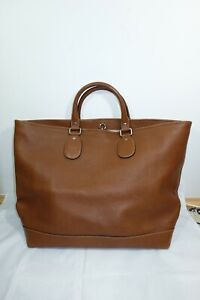 Gucci Extra Large Brown Leather Tote Bag