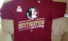 NWT~NCAA ADIDAS Florida State Seminoles 2013 National Champ DESTINATION SHIRT(S)